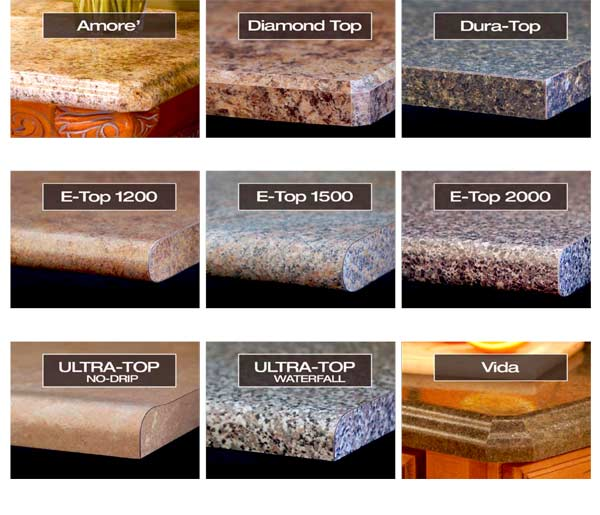 Countertop Edge Options : Precision Countertops: Edge profile